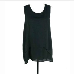 Ann Taylor tiered mixed media tank top
